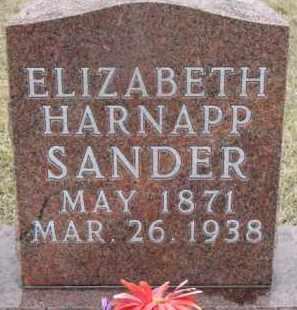 SANDER, ELIZABETH - Madison County, Nebraska | ELIZABETH SANDER - Nebraska Gravestone Photos
