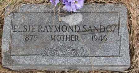 RAYMOND SANDOZ, ELSIE - Madison County, Nebraska | ELSIE RAYMOND SANDOZ - Nebraska Gravestone Photos