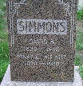 SIMMONS, DAVID B. - Madison County, Nebraska | DAVID B. SIMMONS - Nebraska Gravestone Photos