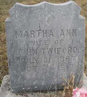 TWIFORD, MARTHA ANN - Madison County, Nebraska   MARTHA ANN TWIFORD - Nebraska Gravestone Photos