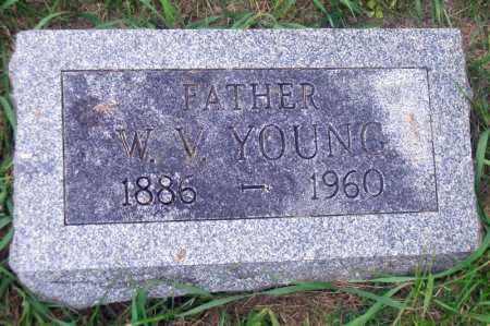 YOUNG, W. V. - Madison County, Nebraska | W. V. YOUNG - Nebraska Gravestone Photos