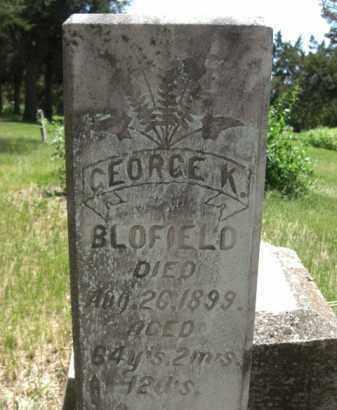 BLOFIELD, GEORGE K. - Nance County, Nebraska | GEORGE K. BLOFIELD - Nebraska Gravestone Photos