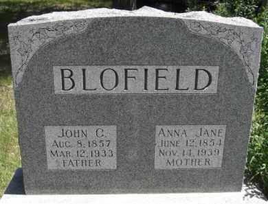 BLOFIELD, ANNA JANE - Nance County, Nebraska | ANNA JANE BLOFIELD - Nebraska Gravestone Photos
