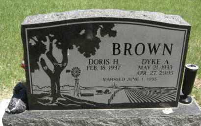 BROWN, DYKE A. - Nance County, Nebraska   DYKE A. BROWN - Nebraska Gravestone Photos