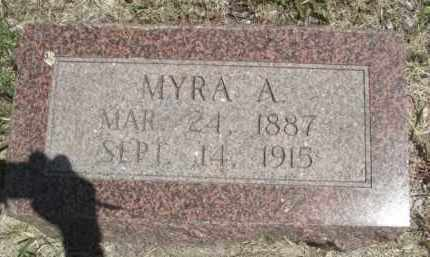 BROWN, MYRA A. - Nance County, Nebraska | MYRA A. BROWN - Nebraska Gravestone Photos
