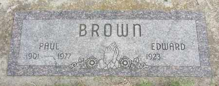 BROWN, PAUL - Nance County, Nebraska | PAUL BROWN - Nebraska Gravestone Photos