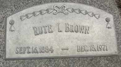 BROWN, RUTH I. - Nance County, Nebraska   RUTH I. BROWN - Nebraska Gravestone Photos