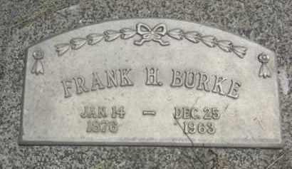 BURKE, FRANK H. - Nance County, Nebraska | FRANK H. BURKE - Nebraska Gravestone Photos