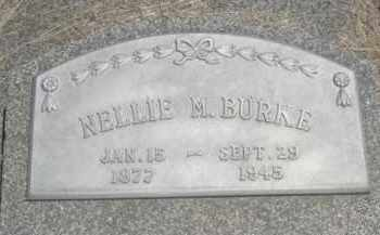 BURKE, NELLIE M. - Nance County, Nebraska   NELLIE M. BURKE - Nebraska Gravestone Photos