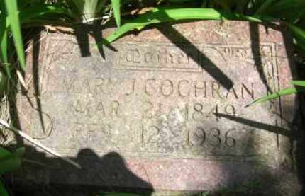 COCHRAN, MARY J. - Nance County, Nebraska | MARY J. COCHRAN - Nebraska Gravestone Photos