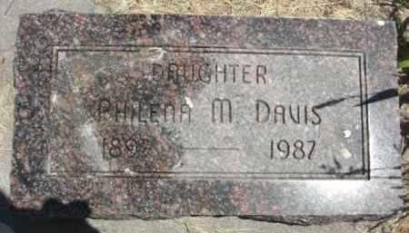 DAVIS, PHILENA M. - Nance County, Nebraska | PHILENA M. DAVIS - Nebraska Gravestone Photos