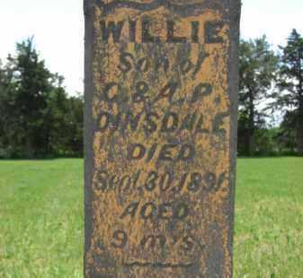 DINSDALE, WILLIE - Nance County, Nebraska | WILLIE DINSDALE - Nebraska Gravestone Photos
