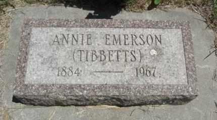 TIBBETTS EMERSON, ANNIE - Nance County, Nebraska   ANNIE TIBBETTS EMERSON - Nebraska Gravestone Photos