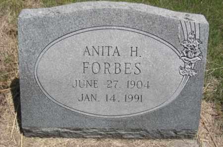 FORBES, ANITA H. - Nance County, Nebraska | ANITA H. FORBES - Nebraska Gravestone Photos
