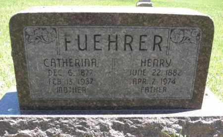 FUEHRER, CATHERINA - Nance County, Nebraska | CATHERINA FUEHRER - Nebraska Gravestone Photos