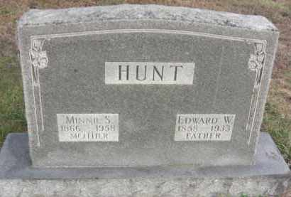 HUNT, EDWARD WELLS - Nance County, Nebraska | EDWARD WELLS HUNT - Nebraska Gravestone Photos