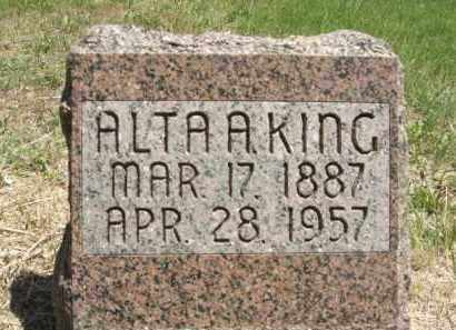 KING, ALTA A. - Nance County, Nebraska | ALTA A. KING - Nebraska Gravestone Photos