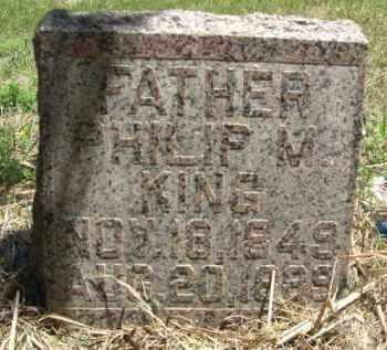 KING, PHILLIP M. - Nance County, Nebraska | PHILLIP M. KING - Nebraska Gravestone Photos