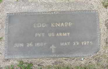 KNAPP, EDD - Nance County, Nebraska | EDD KNAPP - Nebraska Gravestone Photos
