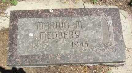 MEDBERY, MARION M. - Nance County, Nebraska | MARION M. MEDBERY - Nebraska Gravestone Photos
