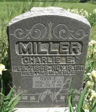 MILLER, CHARLIE E. - Nance County, Nebraska   CHARLIE E. MILLER - Nebraska Gravestone Photos