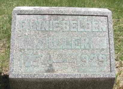 BELDEN MILLER, FANNIE - Nance County, Nebraska | FANNIE BELDEN MILLER - Nebraska Gravestone Photos