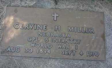MILLER, GERVINE H. - Nance County, Nebraska | GERVINE H. MILLER - Nebraska Gravestone Photos