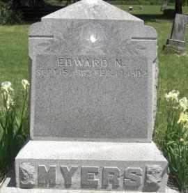 MYERS, EDWARD N. - Nance County, Nebraska | EDWARD N. MYERS - Nebraska Gravestone Photos