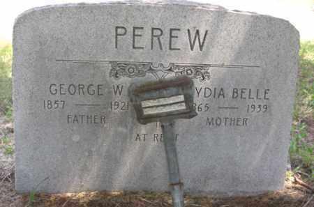 PEREW, LYDIA BELLE - Nance County, Nebraska | LYDIA BELLE PEREW - Nebraska Gravestone Photos