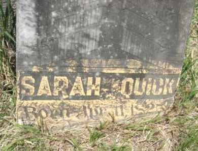 QUICK, SARAH - Nance County, Nebraska | SARAH QUICK - Nebraska Gravestone Photos