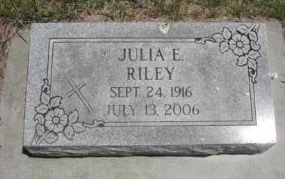 RILEY, JULIA E. - Nance County, Nebraska | JULIA E. RILEY - Nebraska Gravestone Photos