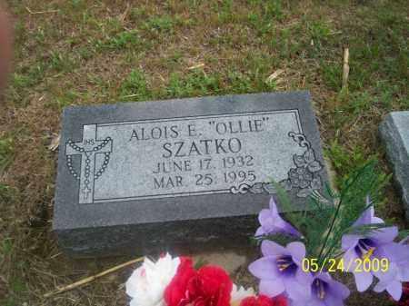 "SZATKO, ALOISE E. ""OLLIE"" - Nance County, Nebraska   ALOISE E. ""OLLIE"" SZATKO - Nebraska Gravestone Photos"