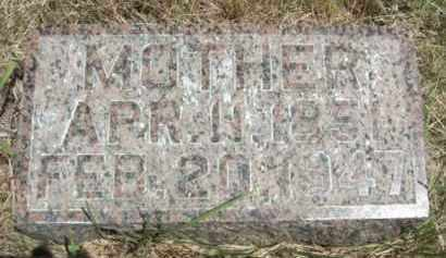 TIBBETTS, (MOTHER) - Nance County, Nebraska   (MOTHER) TIBBETTS - Nebraska Gravestone Photos