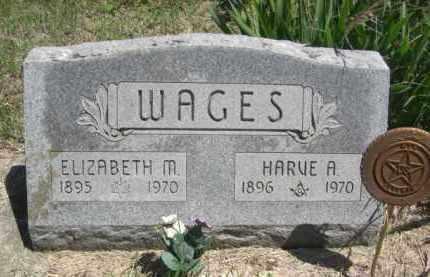 WAGES, HARVE A. - Nance County, Nebraska | HARVE A. WAGES - Nebraska Gravestone Photos