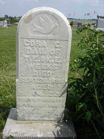 WEEKS, CORA CORNELIA - Nance County, Nebraska | CORA CORNELIA WEEKS - Nebraska Gravestone Photos