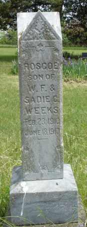 WEEKS, ROSCOE - Nance County, Nebraska | ROSCOE WEEKS - Nebraska Gravestone Photos