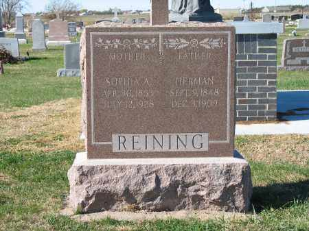 HEITMAN(N) REINING, SOPHIA - Nuckolls County, Nebraska | SOPHIA HEITMAN(N) REINING - Nebraska Gravestone Photos
