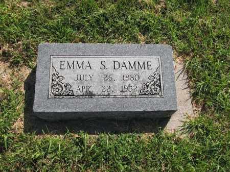 DAMME, EMMA S. - Otoe County, Nebraska   EMMA S. DAMME - Nebraska Gravestone Photos
