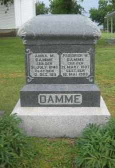 DAMME, ANNA - Otoe County, Nebraska | ANNA DAMME - Nebraska Gravestone Photos