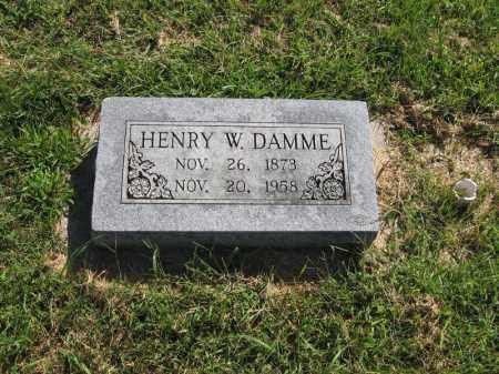 DAMME, HENRY WILLIAM - Otoe County, Nebraska | HENRY WILLIAM DAMME - Nebraska Gravestone Photos