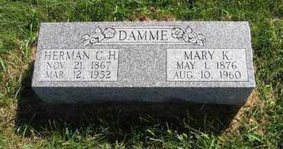 DAMME, MARY K. - Otoe County, Nebraska | MARY K. DAMME - Nebraska Gravestone Photos