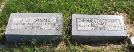 DAMME, CAROLINE - Otoe County, Nebraska | CAROLINE DAMME - Nebraska Gravestone Photos