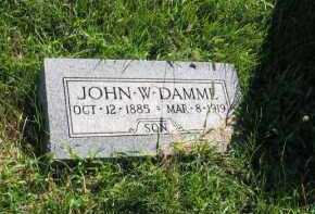 DAMME, JOHN W. - Otoe County, Nebraska | JOHN W. DAMME - Nebraska Gravestone Photos