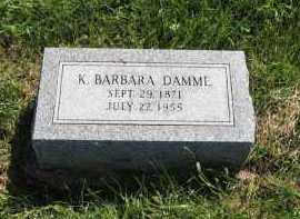 DAMME, K. BARBARA - Otoe County, Nebraska | K. BARBARA DAMME - Nebraska Gravestone Photos