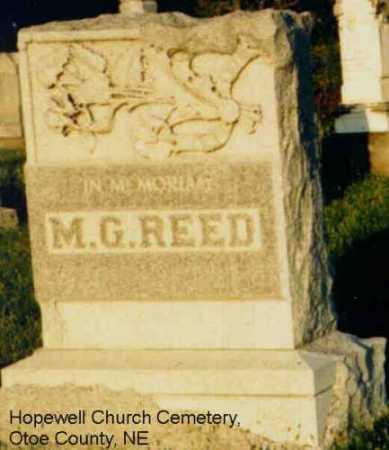 REED, MATTHEW GOODING - Otoe County, Nebraska | MATTHEW GOODING REED - Nebraska Gravestone Photos
