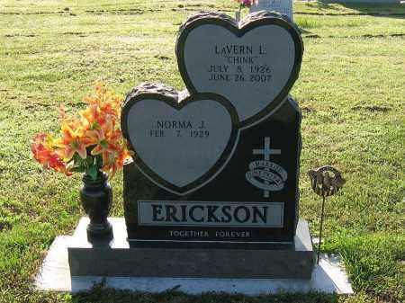 ERICKSON, LAVERN (CHINK) - Phelps County, Nebraska | LAVERN (CHINK) ERICKSON - Nebraska Gravestone Photos