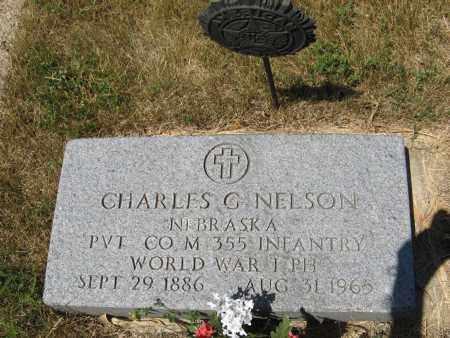 NELSON, CHARLES G. (MILITARY MARKER) - Pierce County, Nebraska   CHARLES G. (MILITARY MARKER) NELSON - Nebraska Gravestone Photos