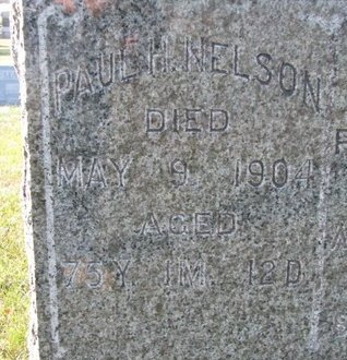 NELSON, PAUL H. (CLOSE UP) - Pierce County, Nebraska | PAUL H. (CLOSE UP) NELSON - Nebraska Gravestone Photos
