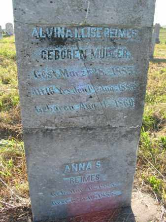 REIMERS, ANNA (REIMES) - Pierce County, Nebraska | ANNA (REIMES) REIMERS - Nebraska Gravestone Photos
