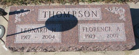 THOMPSON, LEONARD H. - Pierce County, Nebraska | LEONARD H. THOMPSON - Nebraska Gravestone Photos